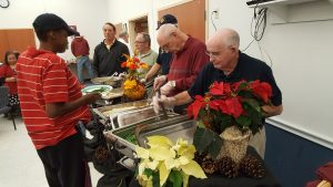 Brother Knights serving Thanksgiving Dinner at the NAMI Sunday Supper.